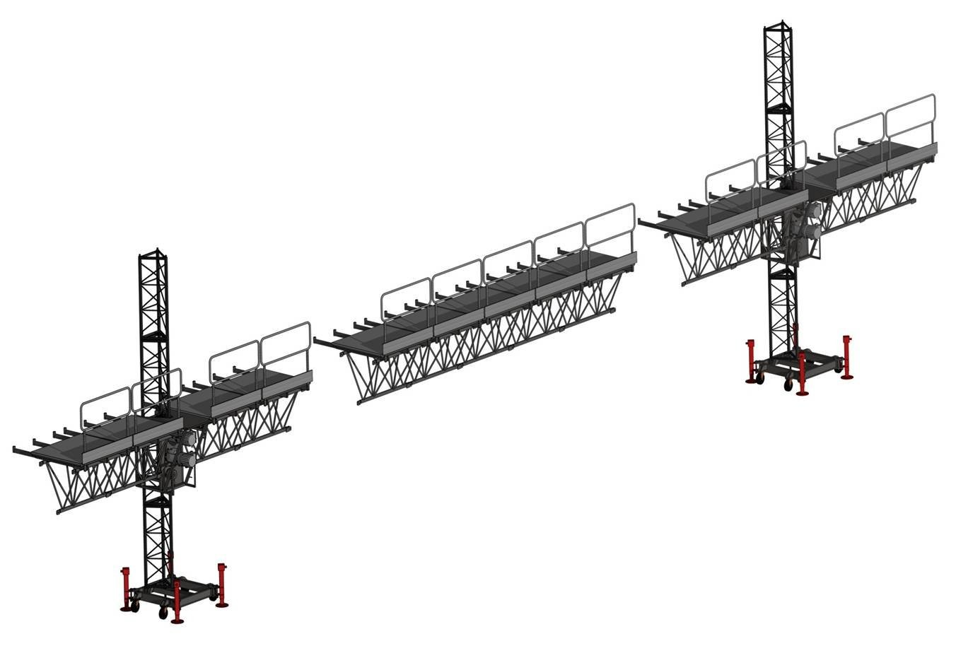 Mast Suspended Access Platform Climbing Aerial Work With Single Cage Or Double Cage